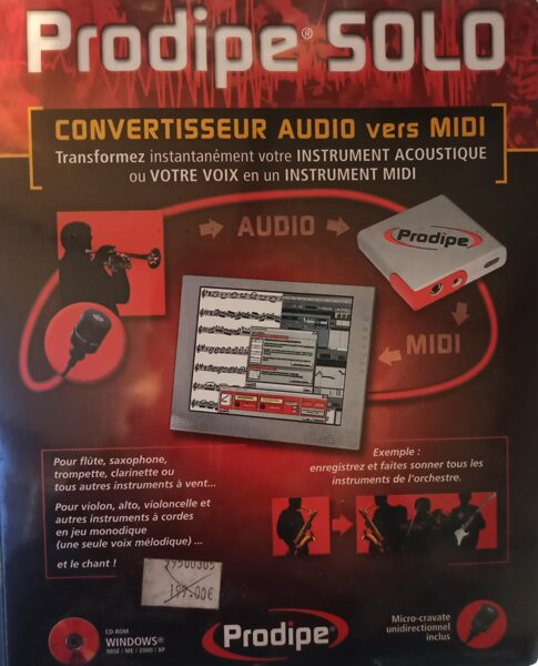 Prodipe Solo Audio vers Midi