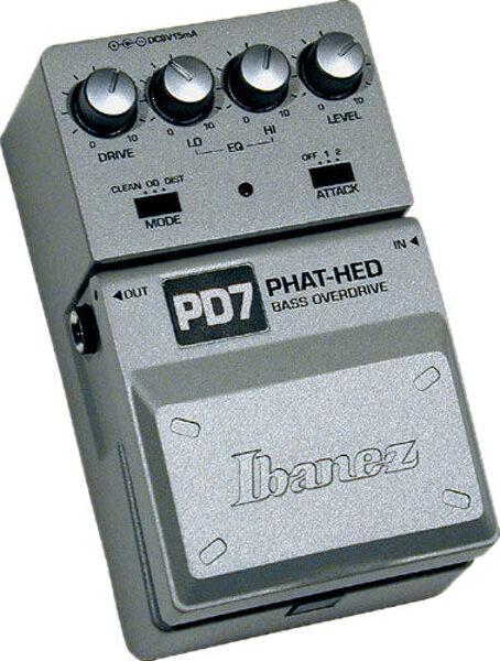 Pédale Ibanez PD-7 Bass overdrive