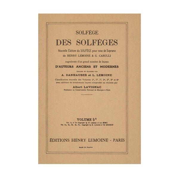Solfège des solfèges volume 5a